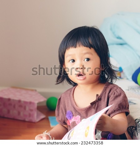 Adorable asian kid - stock photo