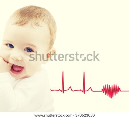 adorable baby boy - stock photo
