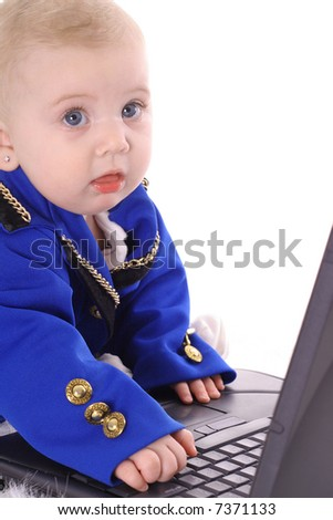 adorable baby business - stock photo