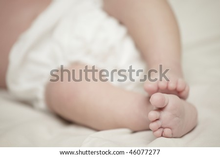 Adorable baby feet