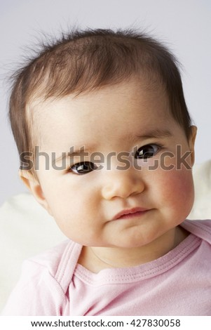 Adorable baby in studio shot