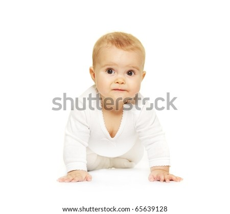 Adorable baby isolated on white