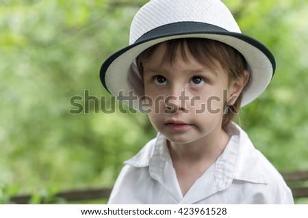 adorable boy portrait - stock photo