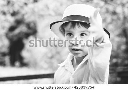 adorable child - stock photo