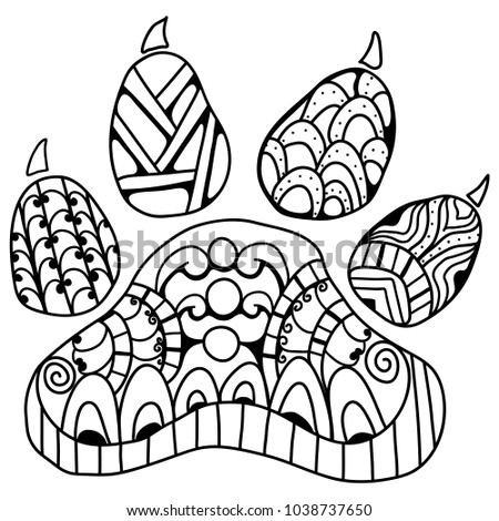 Adorable Dog Paw Coloring Book For Adults