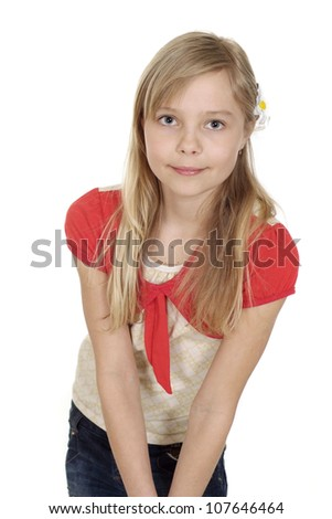 Adorable female showed herself in the photos in all her glory - stock photo