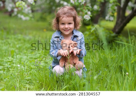 Adorable girl in the park