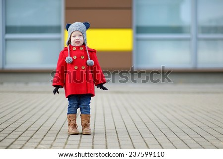 Adorable girl portrait on beautiful spring day - stock photo