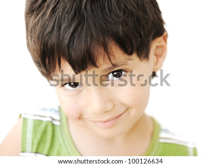 Adorable kid portrait - stock photo