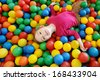 Adorable little girl having fun at the playground - stock photo