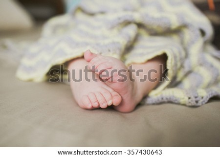 adorable newborn baby feet