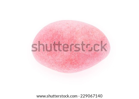 Adorable pink rose quartz. Rough and uncut isolated on white background.