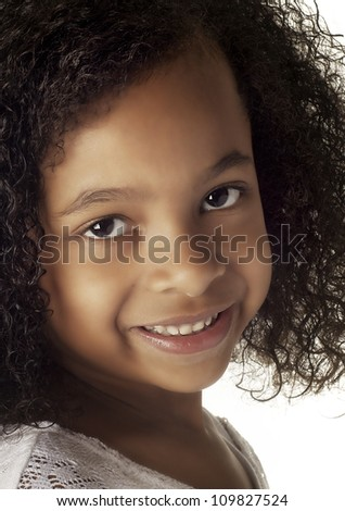 Adorable smiling little girl - stock photo