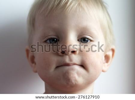 Adorable toddler portrait. Soft focus - stock photo
