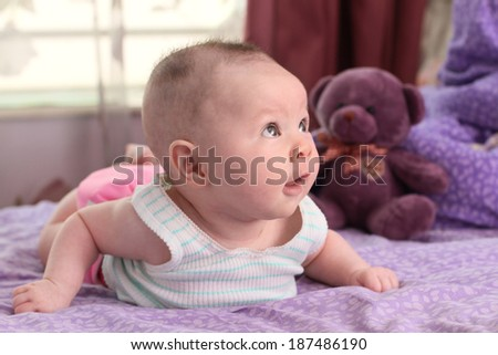 adorable young  baby - stock photo