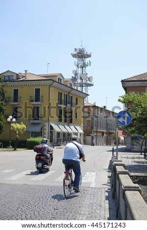 Adria, Italy - June, 29, 2016: street in a center of city