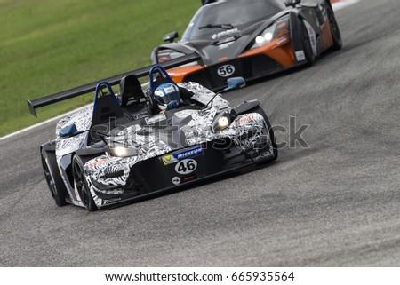 Adria, Rovigo, Italy - September 17, 2016: Ktm X-Bow Elite M, driven by BAU BOB,  during race at the American Speed Weekend in Adria International Raceway.