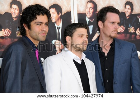 Adrian Grenier with Jerry Ferrara and Kevin Dillon at the Los Angeles Premiere of 'Entourage' Season Six. Paramount Theater, Hollywood, CA. 07-09-09