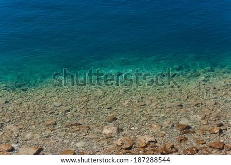Adriatic Sea near Split, Dalmatia, Croatia - stock photo