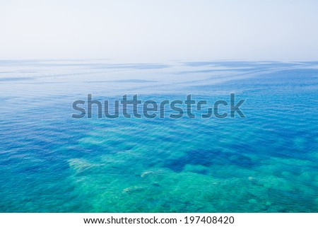 Adriatic sea water, airview. Blue water background - stock photo