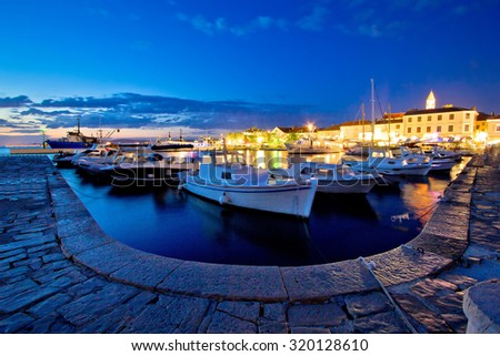 Adriatic town of Biograd Na Moru evening view, Dalmatia, Croatia - stock photo