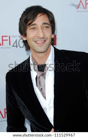 Adrien Brody at the 35th Annual AFI Life Achievement Award celebration honoring Al Pacino. Kodak Theatre, Hollywood, CA. 06-07-07