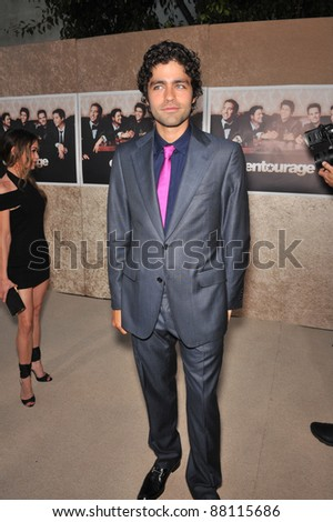 "Adrien Grenier at the premiere for the sixth season of the HBO TV series ""Entourage"" at Paramount Studios, Hollywood. July 9, 2009  Los Angeles, CA Picture: Paul Smith / Featureflash"