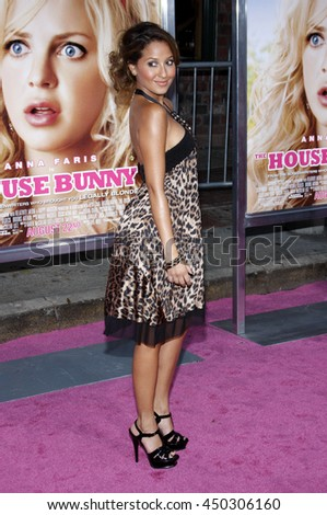 Adrienne Bailon at the Los Angeles premiere of 'The House Bunny' held at the Mann Village Theater in Westwood, USA on August 20, 2008.