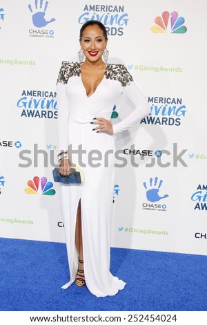 Adrienne Bailon at the 2nd Annual American Giving Awards held at the Pasadena Civic Auditorium in Los Angeles, United States, 071212.  - stock photo
