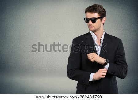 Adult, attractive, caucasian. - stock photo