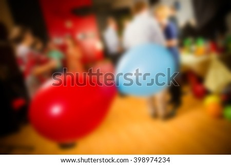 Adult birthday party theme blur background