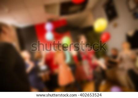 Adult birthday party theme blur background - stock photo