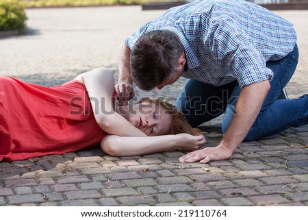 Fainted Girl Pictures Fainted Girl Stock Photo