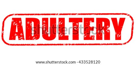 adultery stamp on white background.