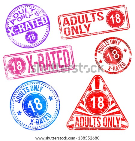 Adults only and X rated rubber stamps