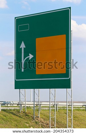 Advance directional sign at national highway