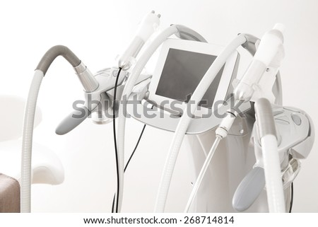 Advanced equipment for body shaping and treatments - stock photo