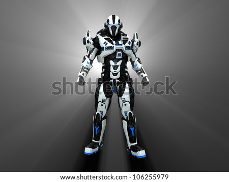 Advanced futuristic soldier