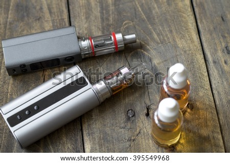 Advanced personal vaporizer or e-cigarette, close up