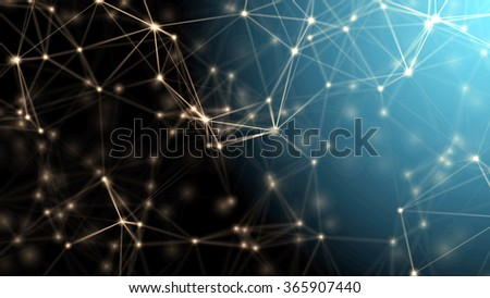 Advanced plexus fantasy abstract technology and engineering background  - stock photo