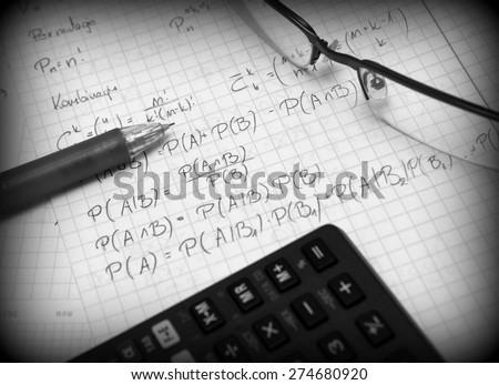 Advanced probability calculations - stock photo