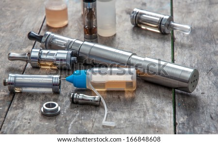 advanced vaping device - stock photo