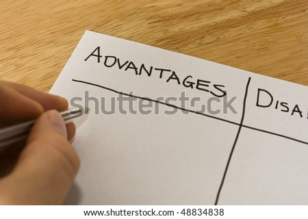 Advantages and Disadvantages - stock photo