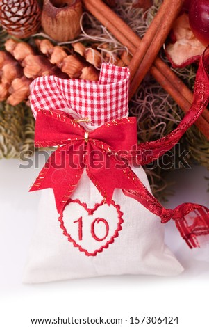 advent calendar christmas gift bag number ten