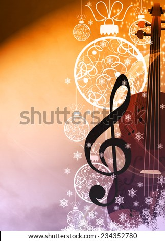 Advent or christmas music concenrt advert poster or flyer background with empty space - stock photo