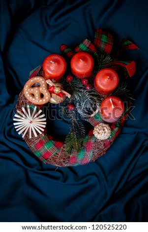 advent wreath - top view
