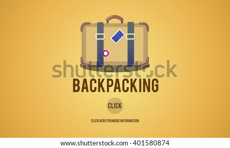 Adventure Backpacking Travel Destination Wander Concept - stock photo