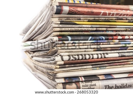 Advertise, advertisement, articles. - stock photo