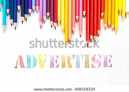 advertise drawing by colour pencils