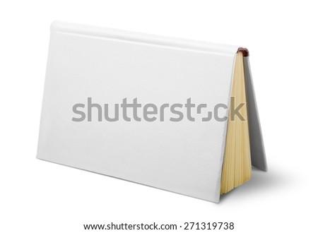 Advertise. White book - stock photo